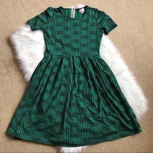 Lularoe Green & Black Textured Jacquard Amelia Med